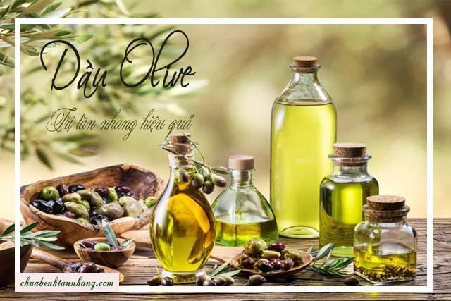 Dầu olive và nước cốt chanh trị tàn nhang