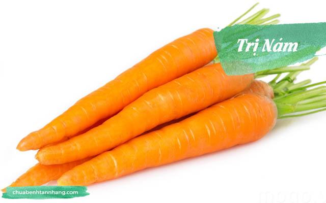 trị nám với mặt nạ cà rốt