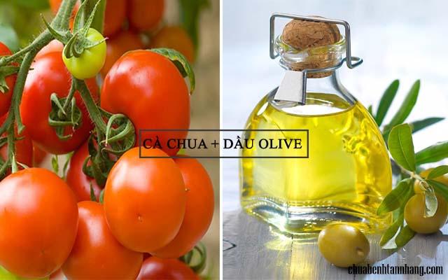 trị tàn nhang cho bà bầu bằng cà chua và dầu olive