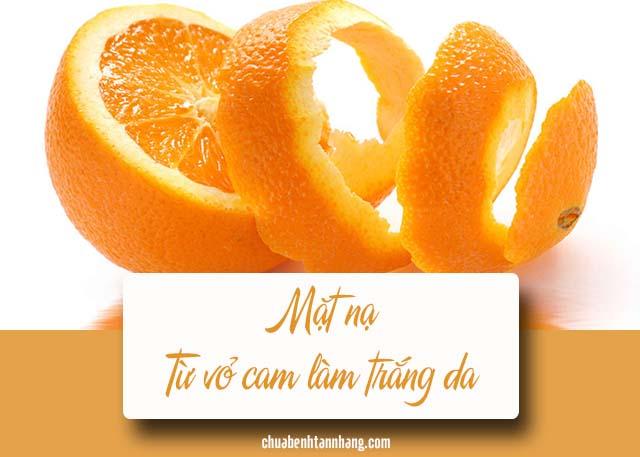 trị thâm nám trên mặt từ vỏ cam