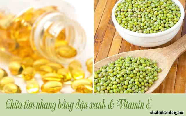 trị tàn nhang bằng đậu xanh và vitamin e