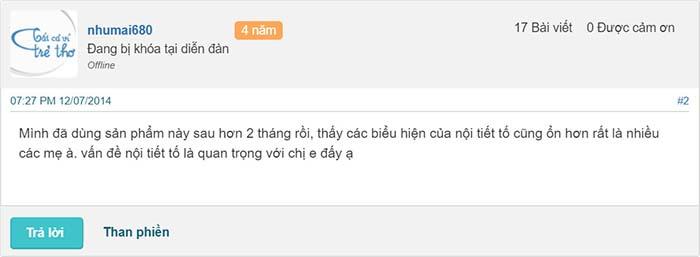 Người dùng đánh giá về Viên uống Hoa Thiên
