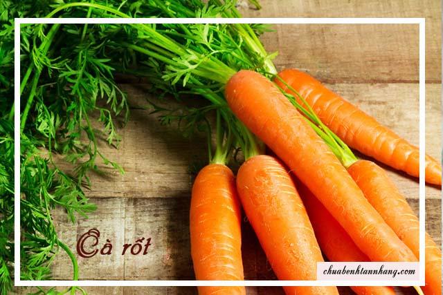 cà rốt là thực phẩm trị tàn nhang