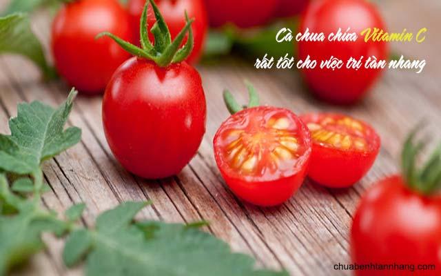 trị tàn nhang bằng mướp hương và cà chua