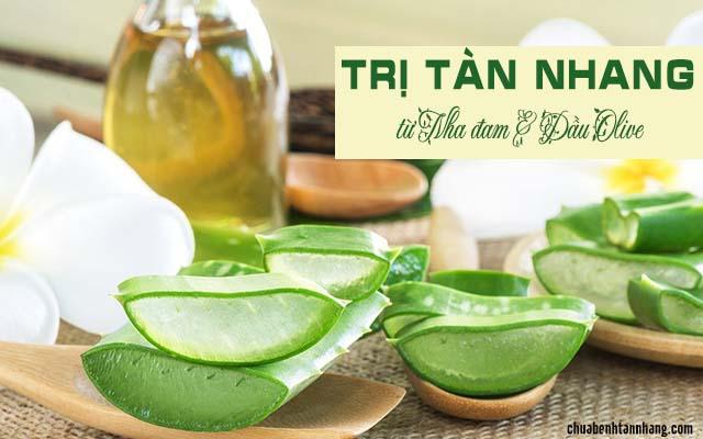 trị tàn nhang từ nha đam và dầu olive