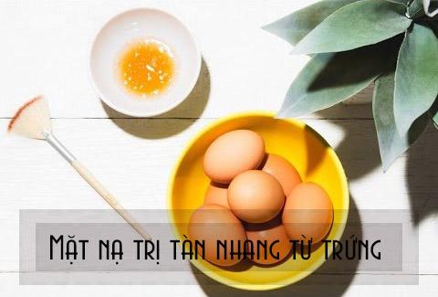 Mặt nạ trị tàn nhang bằng trứng