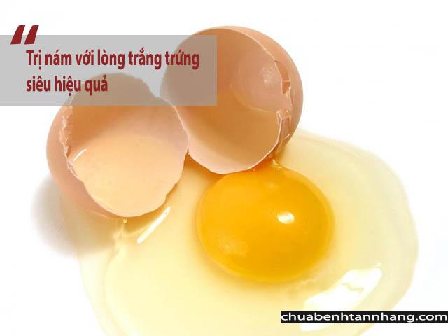 trị nám da với lòng trắng trứng