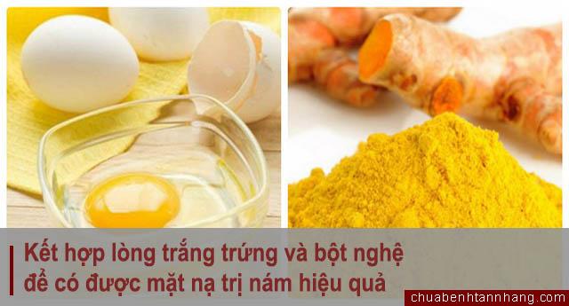 trị nám da với lòng trắng trứng và nghệ hiệu quả