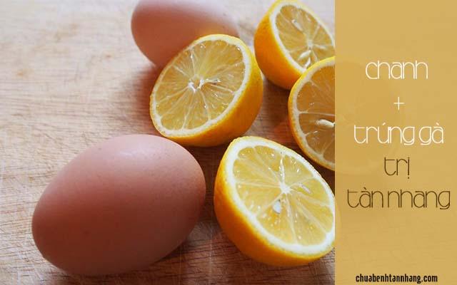 trị tàn nhang bằng nước cốt chanh và trứng gà