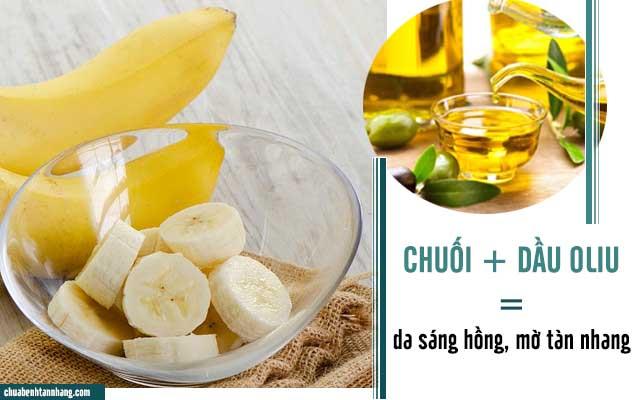 Cách trị tàn nhang từ chuối và dầu oliu