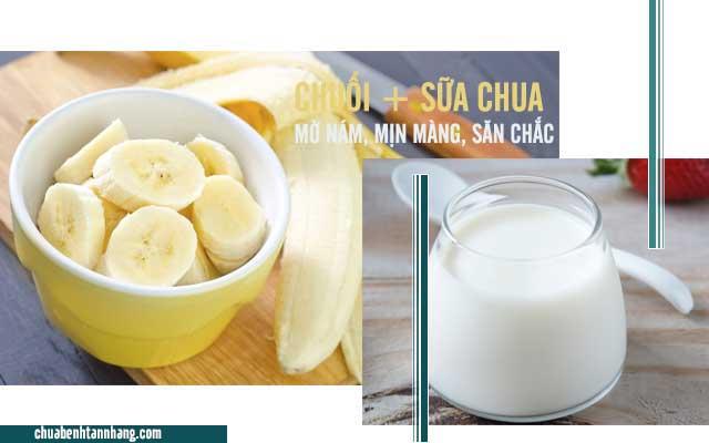 Cách trị tàn nhang từ chuối và sữa chua