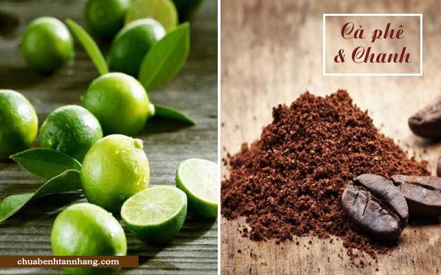 trị nám da từ cà phê và chanh