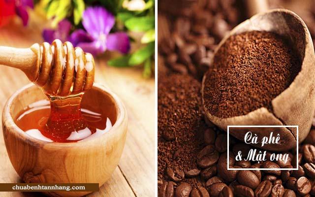 trị nám da từ cà phê và mật ong