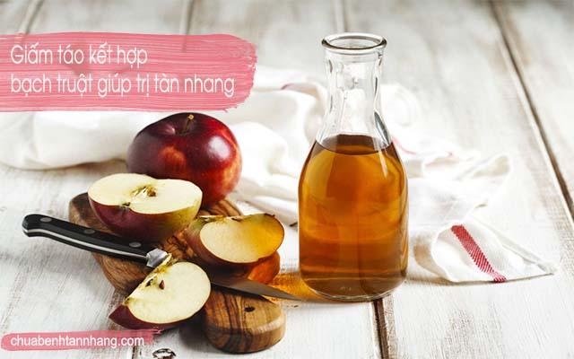 trị tàn nhang bằng bạch truật và giấm táo