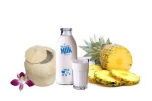 Trị tàn nhang nhanh nhất bằng mặt nạ dứa kết hợp nước dừa và sữa tươi