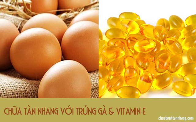 trị tàn nhang bằng vitamin e và trứng gà