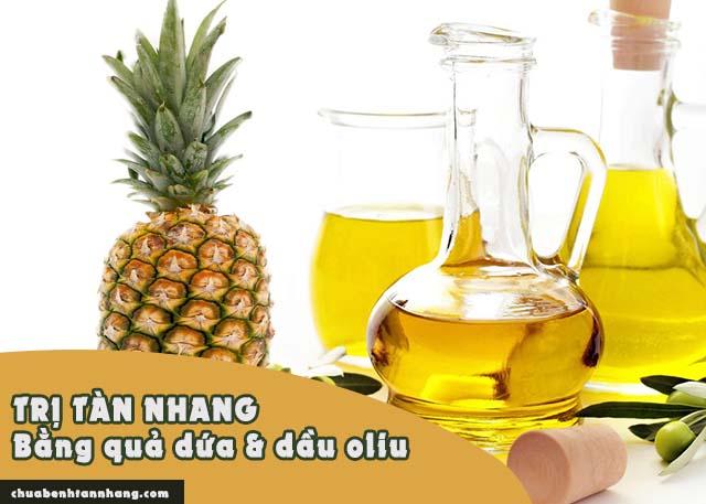 trị tàn nhang từ quả dứa và dầu oliu