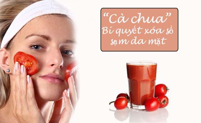 Trị sạm da mặt bằng cà chua