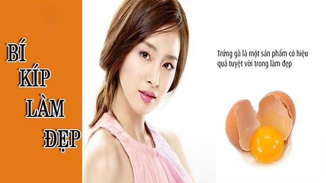 Trị sạm da mặt bằng trứng gà