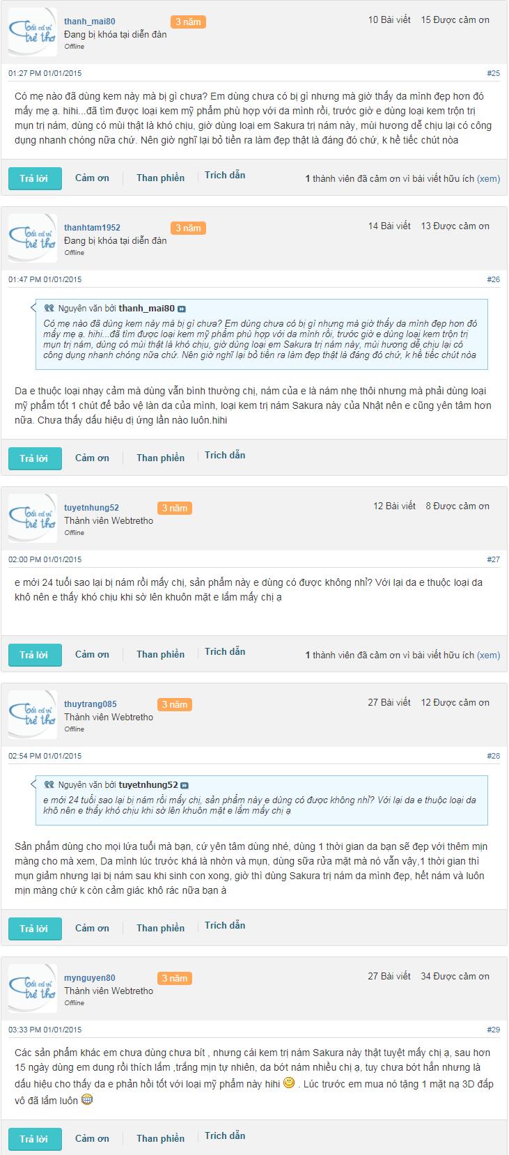 kem trị nám sakura reviews webtretho