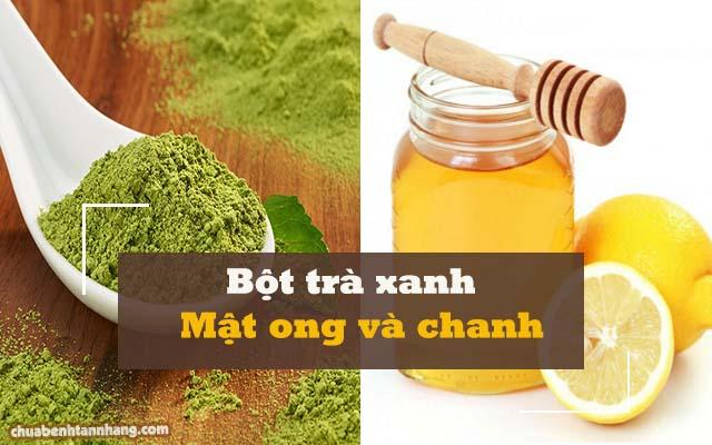 Công thức làm mờ tàn nhang bằng bột trà xanh, mật ong và chanh