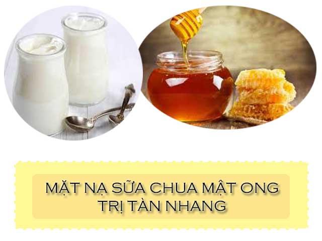 mặt nạ sữa chua và mật ong trị tàn nhang
