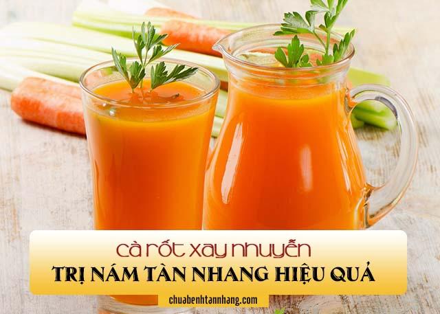 Cà rốt xay nhuyễn trị nám tàn nhang