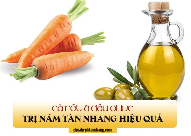 Công thức trị nám tàn nhang từ cà rốt và dầu olive