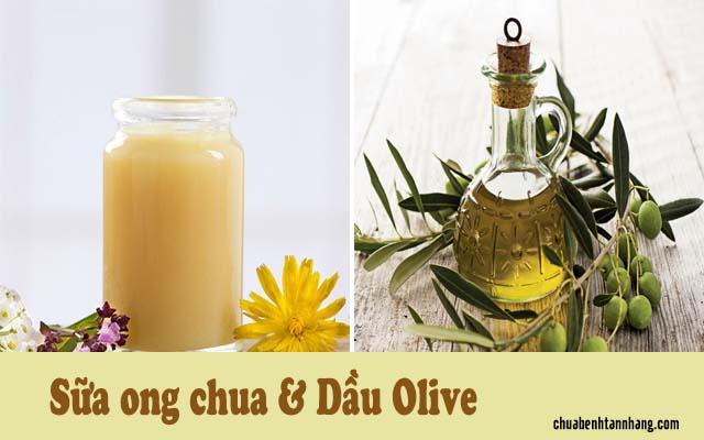 trị tàn nhang bằng sữa ong chúa và dầu olive