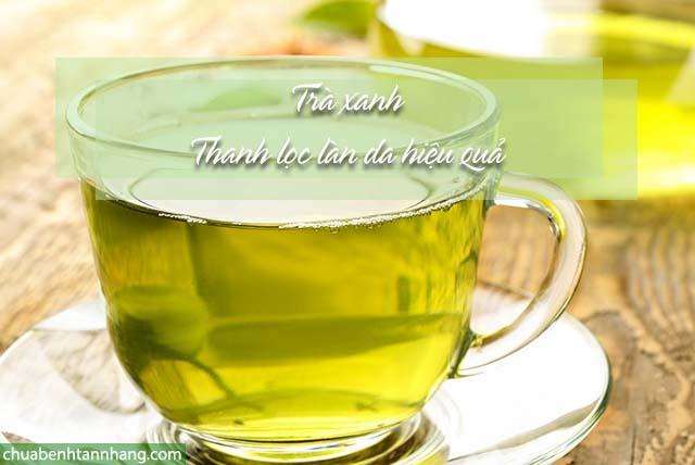 bổ sung trà xanh giúp da mặt trắng mịn