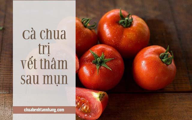 trị thâm mụn bằng cà chua