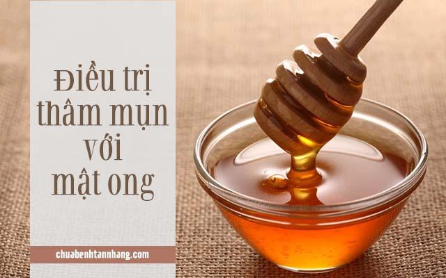 trị thâm mụn bằng mật ong