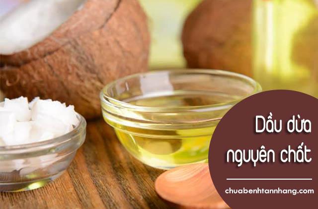 Chữa đồi mồi trên da mặt với dầu dừa