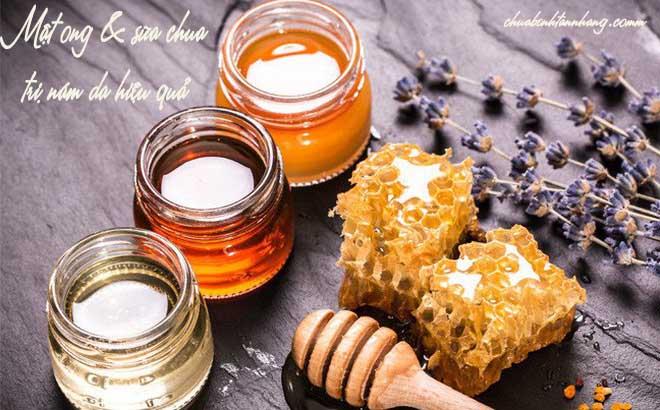 đắp mặt nạ sữa chua trị nám với mật ong