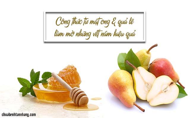 cách dung quả lê và mật ong trị nám