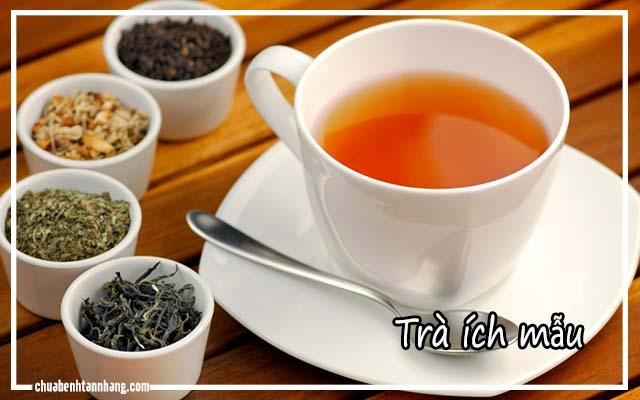 trà từ cây ích mẫu chữa tàn nhang