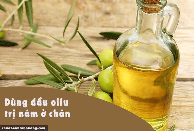 trị nám da ở chân bằng dầu oliu