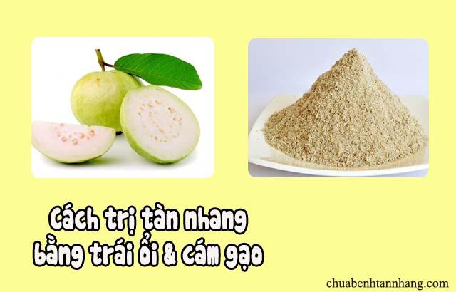 Công thức trị tàn nhang bằng trái ổi và cám gạo