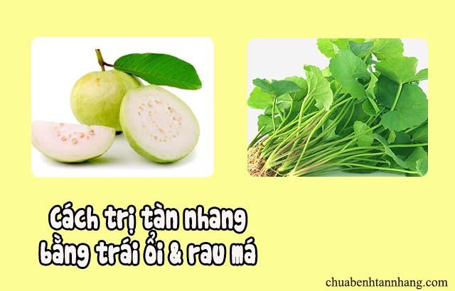 trị tàn nhang bằng trái ổi và rau má