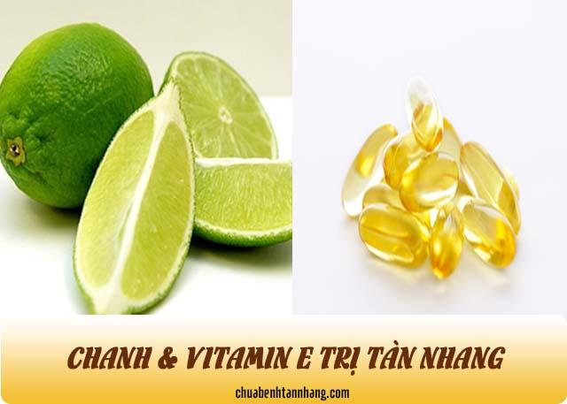 cách dùng vitamin e và chanh trị tàn nhang