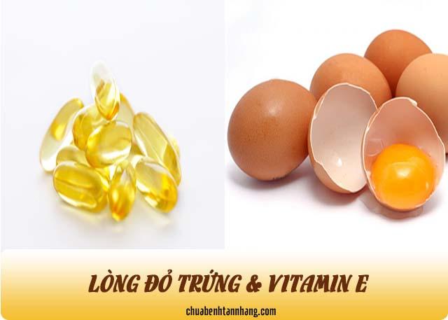 trị tàn nhang với lòng đỏ trứng và vitamin e