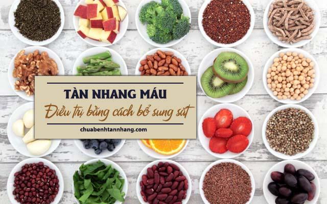trị tàn nhang máu bằng cách bổ sung thực phẩm giàu sắt