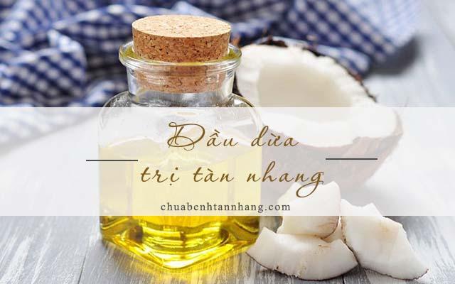 trị tàn nhang trên môi bằng dầu dừa