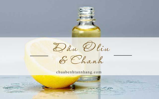 dầu oliu và chanh trị tàn nhang trên môi