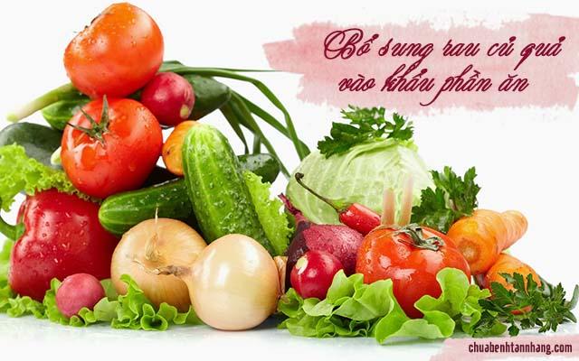 bị nám da nên bổ sung rau củ quả