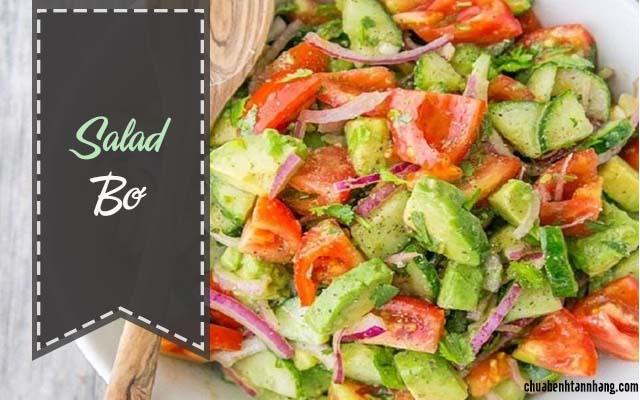 salad bơ là món ăn tốt cho người bị tàn nhang