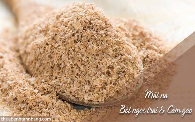 trị nám da bằng bột ngọc trai và cám gạo