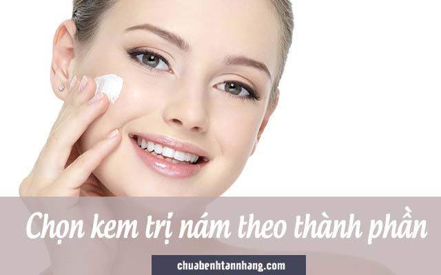 dùng kem trị nám phù hợp là nguyên tắc trị nám cho da khô
