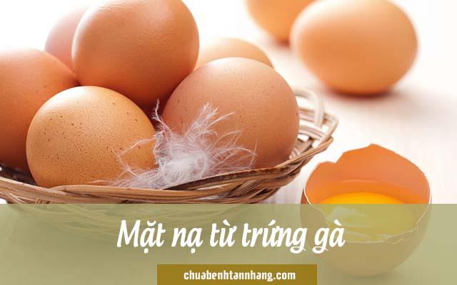 trị nám cho da khô bằng mặt nạ lòng đỏ trứng