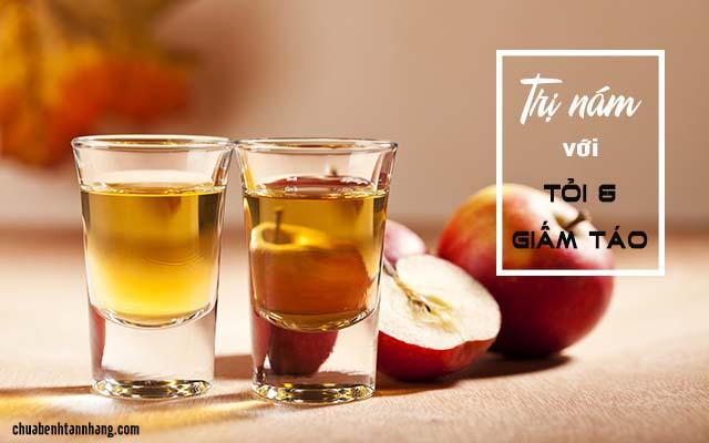 Trị nám bằng tỏi và giấm táo
